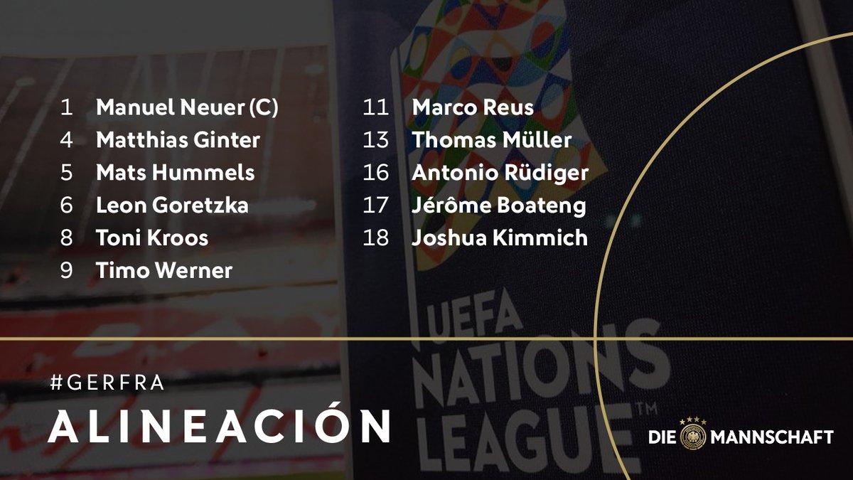تشكيل منتخب ألمانيا ضد فرنسا