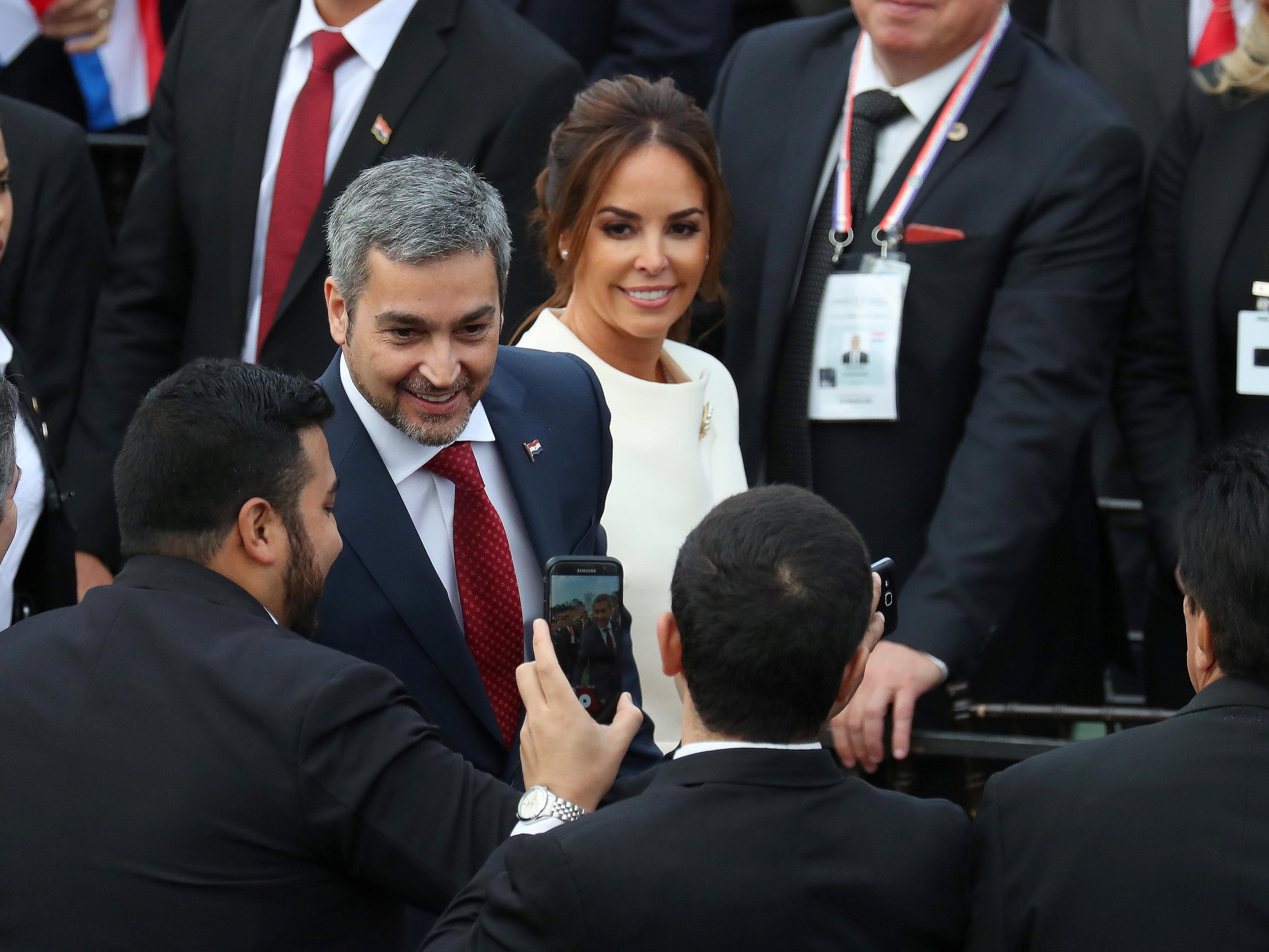 رئيس باراجواى وزوجته