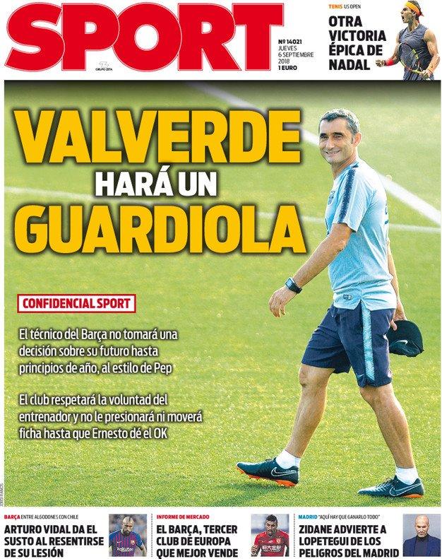 غلاف صحيفة سبورت الإسبانية