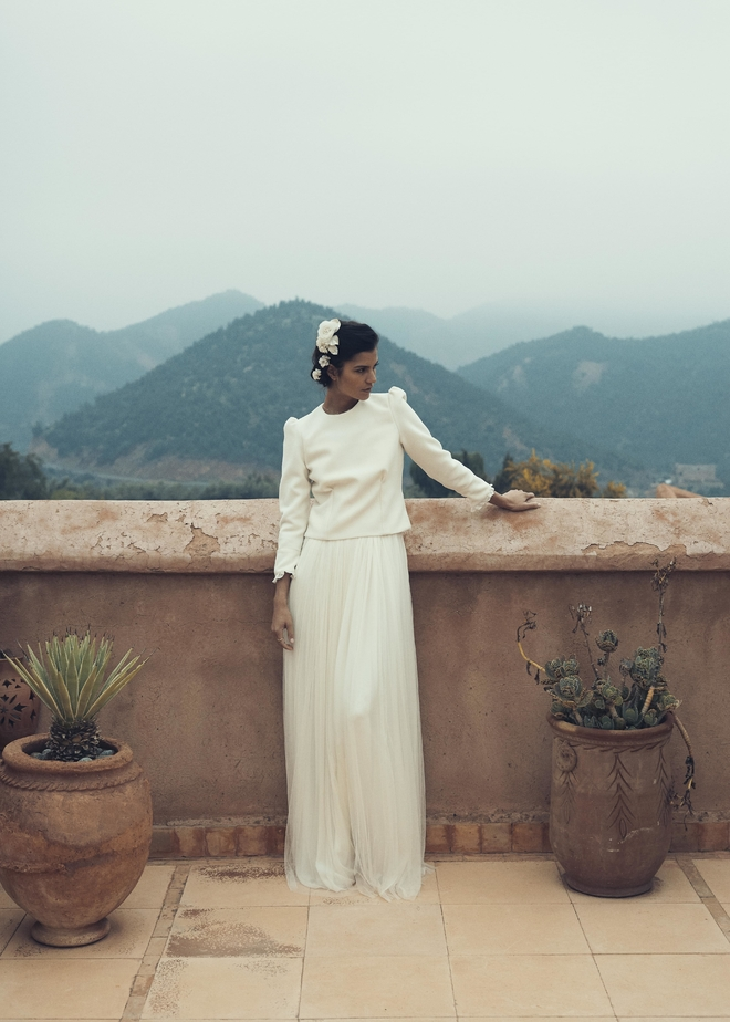 موديلات زفاف بالاكمام