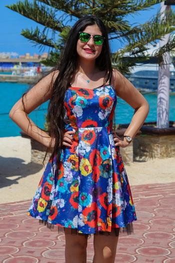 متسابقة مصرية فى مسابقة ملكة جمال العرب