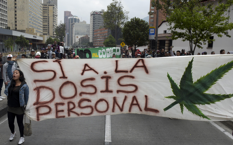 مظاهرات فى شوارع كولومبيا