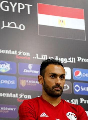 أحمد المحمدى فى المؤتمر الصحفى
