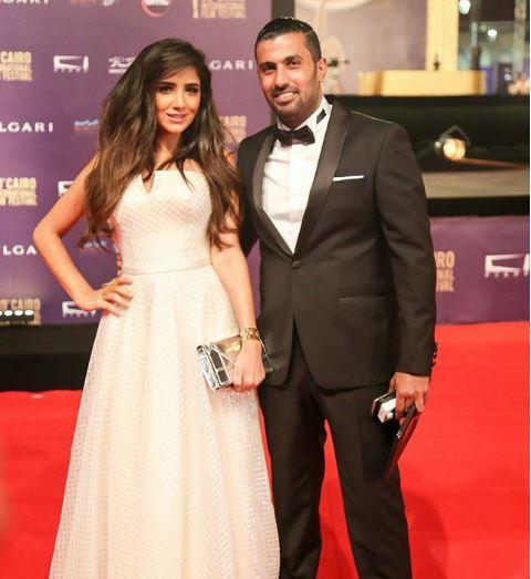 المخرج محمد سامى وزوجته مى عمر