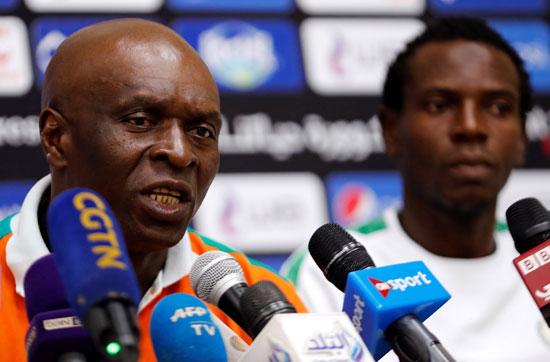 مدرب النيجر فى المؤتمر الصحفى