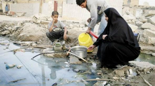المياه الملوثة فى العراق سبب المرض