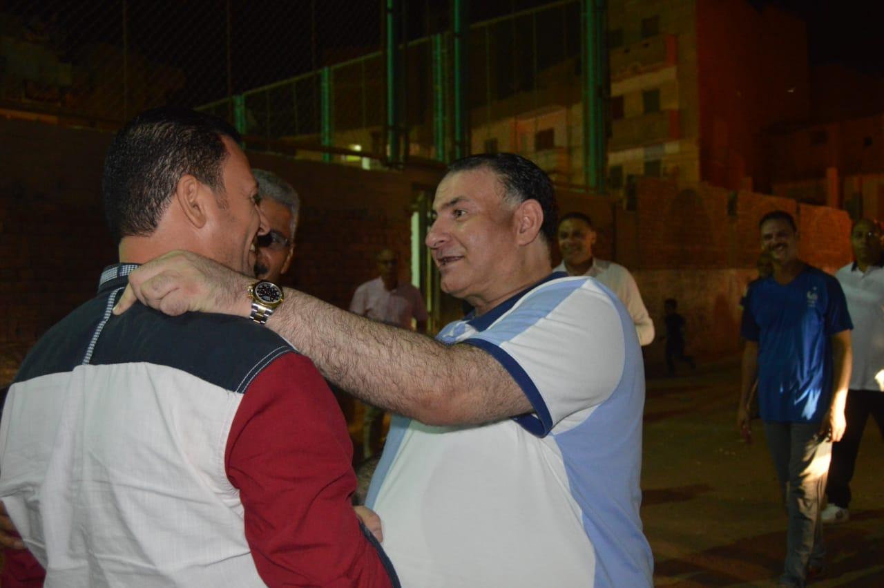محمد فودة يزور نادى العروبة بزفتى وسط ترحيب كبير (5)