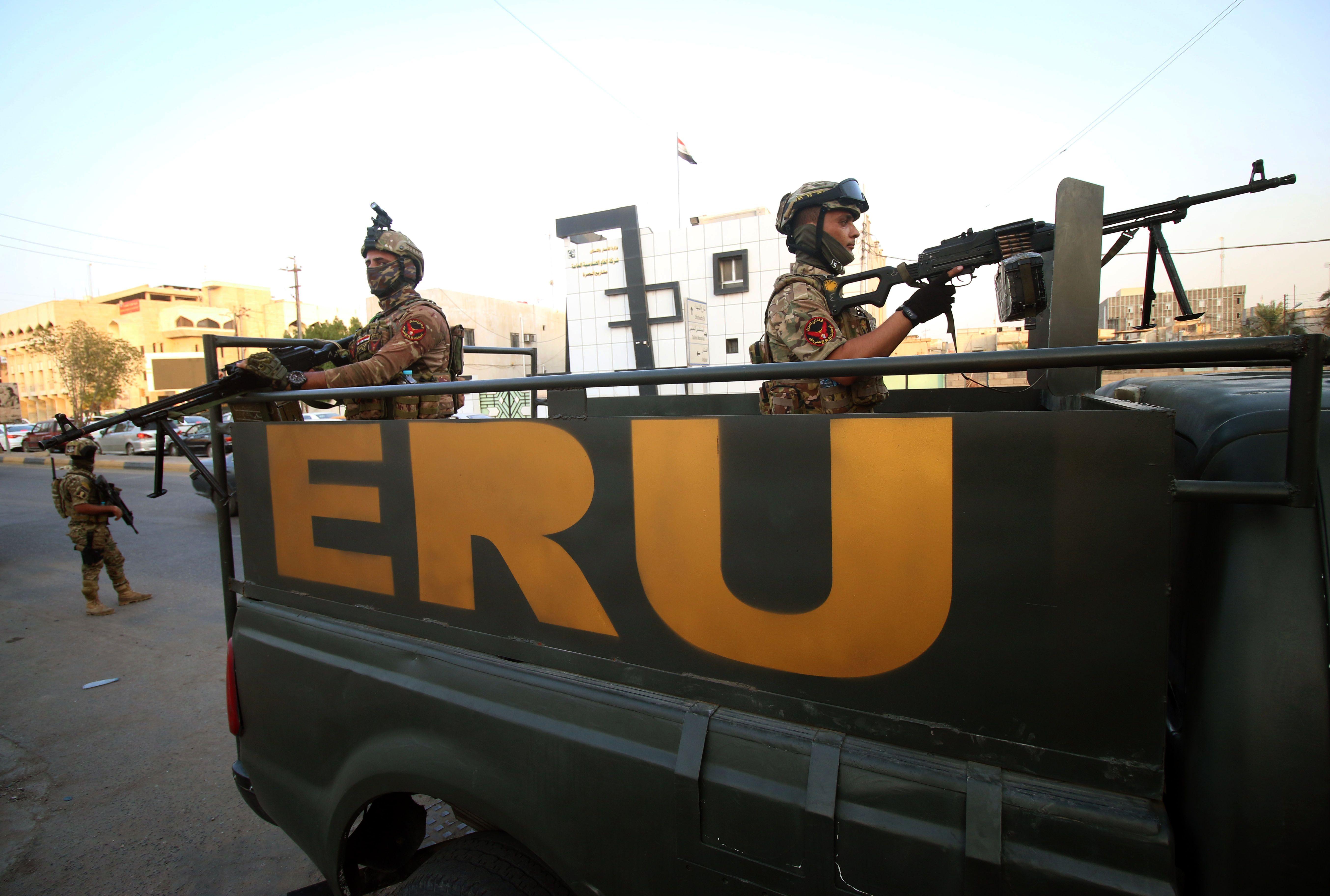 الجيش العراقى ينتشر فى البصرة