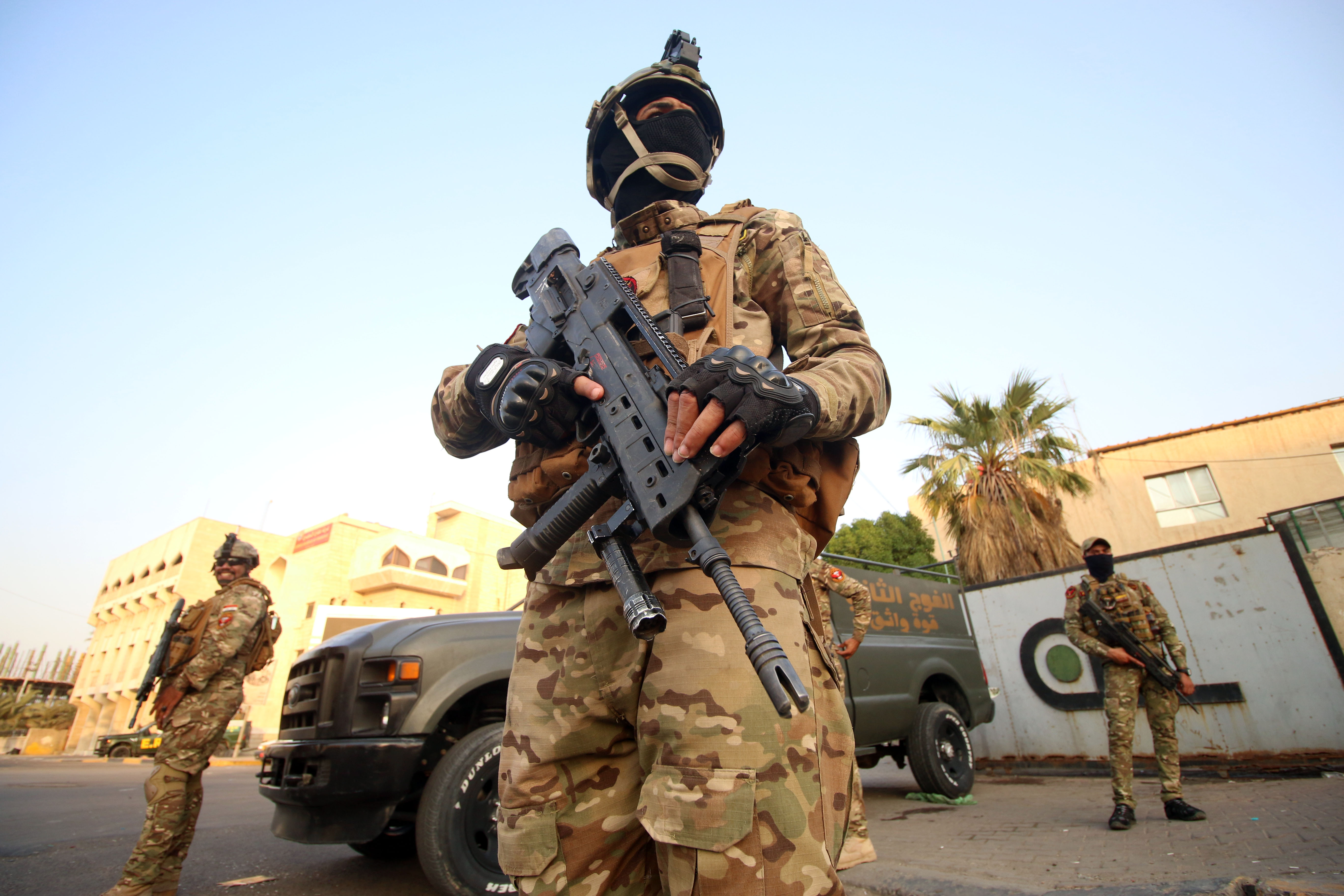 جانب من انتشار الجيش العراقى