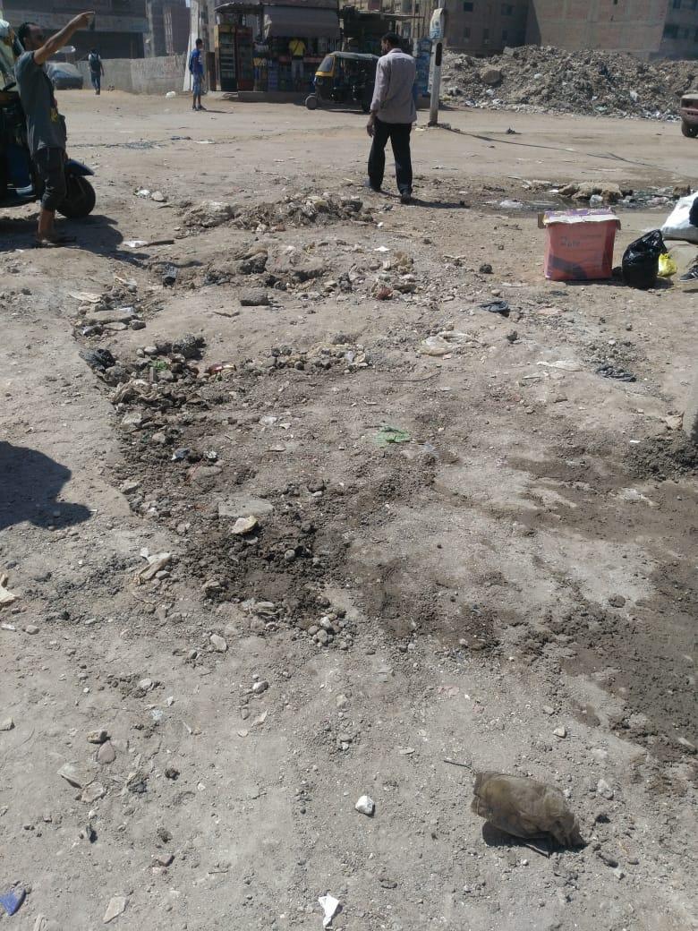 الطريق بعد ردم الحفر  (2)