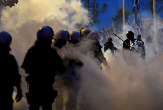 مظاهرات اليونان