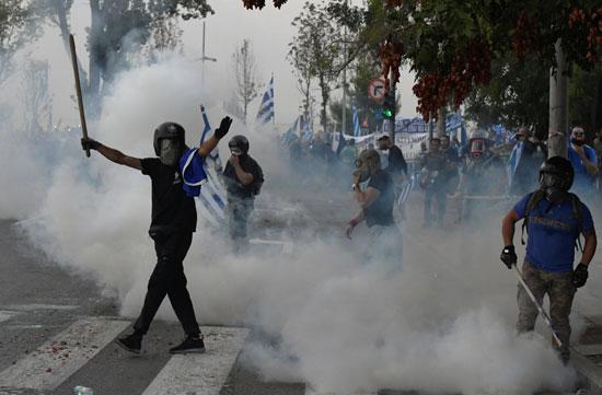 اشتباكات الشرطة اليونانية ومتظاهرين