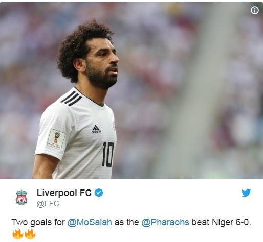 تغريدة حساب ليفربول