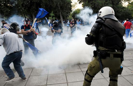 جانب من مظاهرات المعارضة