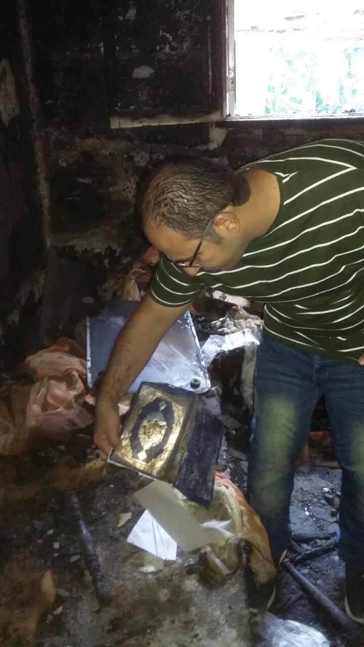 محرر اليوم السابع بموقع الحريق