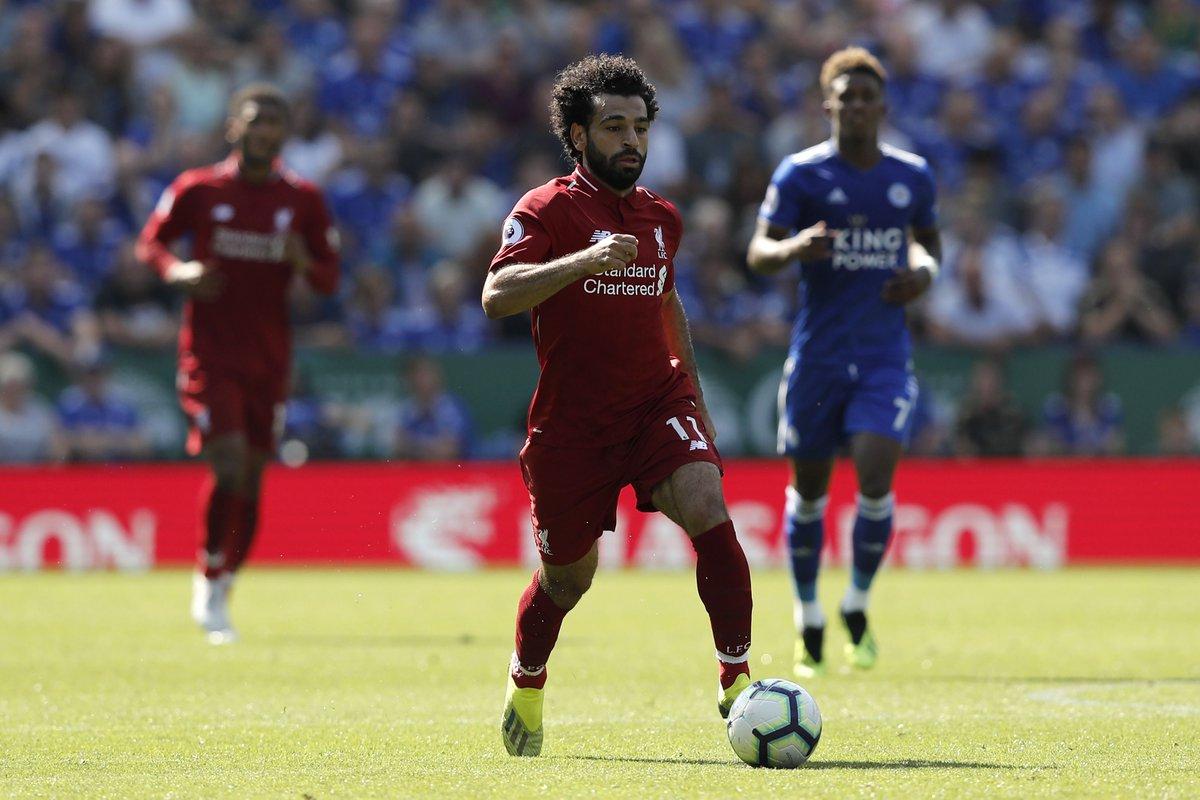 محمد صلاح في مباراة ليستر سيتي ضد ليفربول