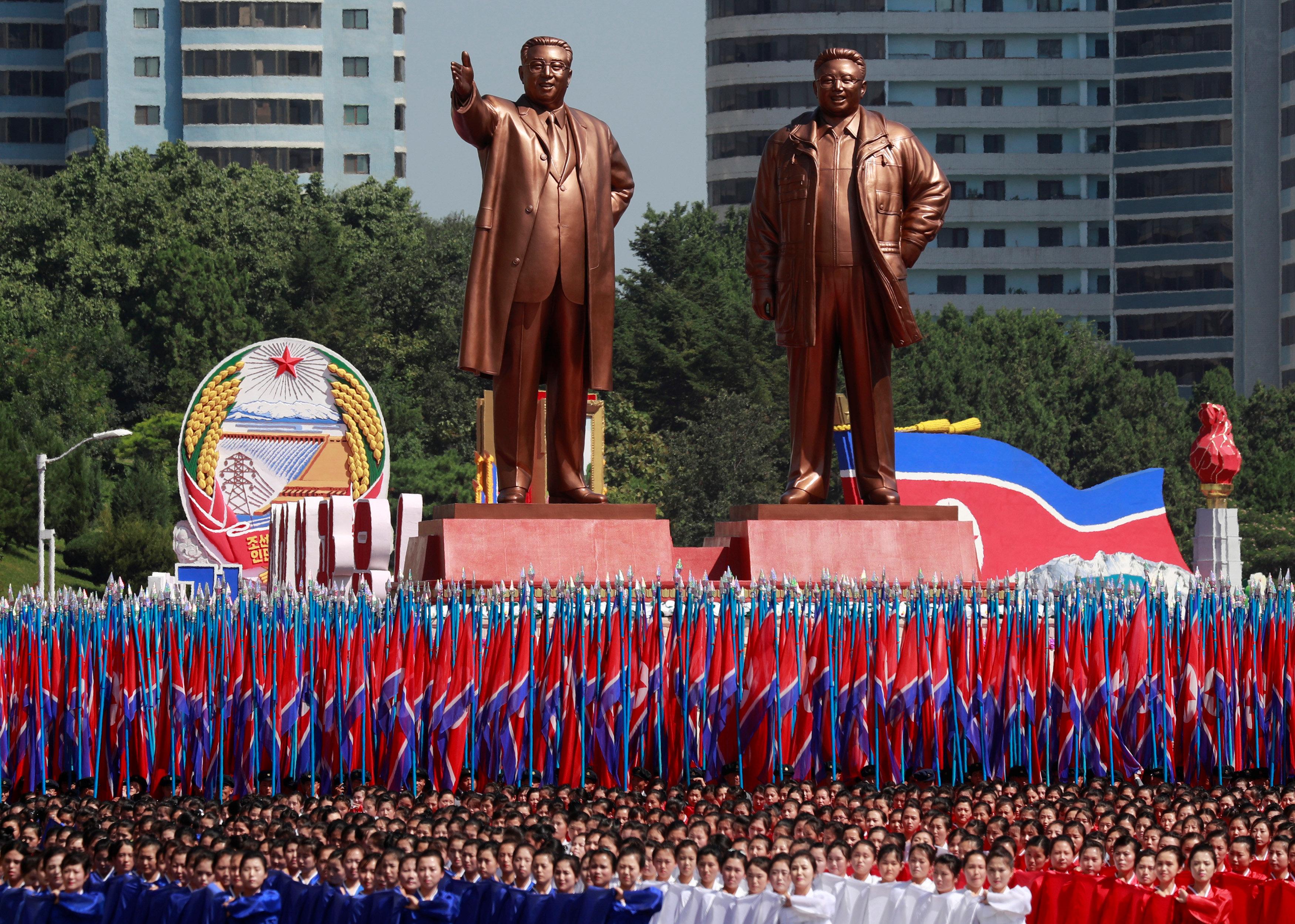 تمثال زعيم كوريا الشمالية