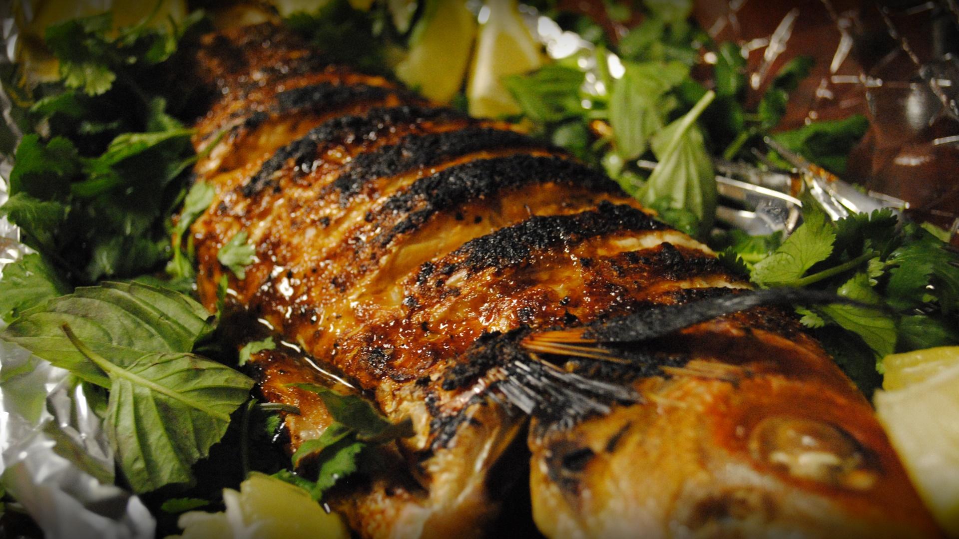 سمك مشوى