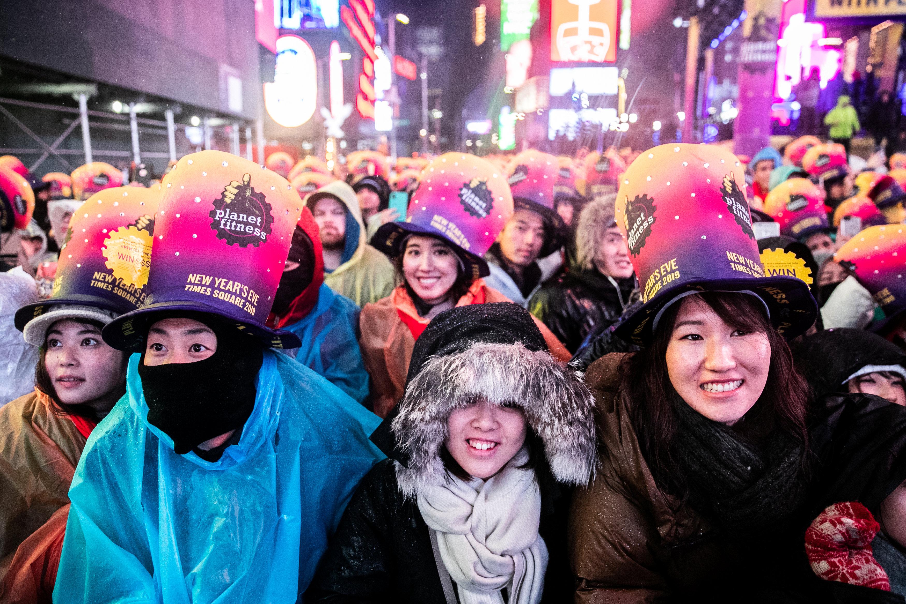 احتفالات فى نيويورك بالعام الجديد