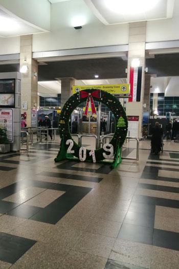 بابا نويل فى مطار القاهرة (1)