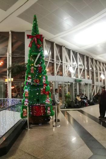 بابا نويل فى مطار القاهرة (2)