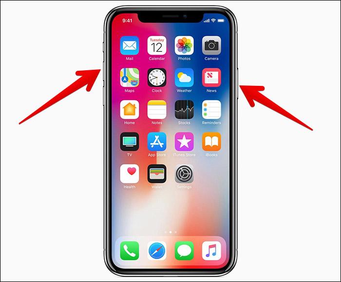 Take-Screenshot-on-iPhone-X
