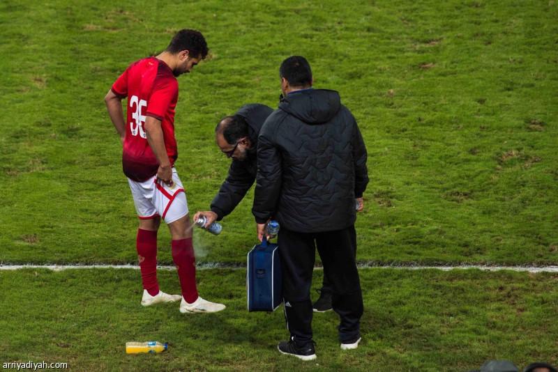 اصابة لاعب الأهلى محمد محمود