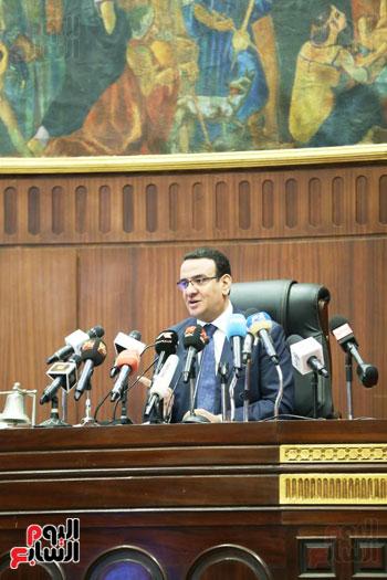 الموتمر الصحفي للمتحدث الرسمي لمجلس النواب لعرض انجازات المجلس  (9)
