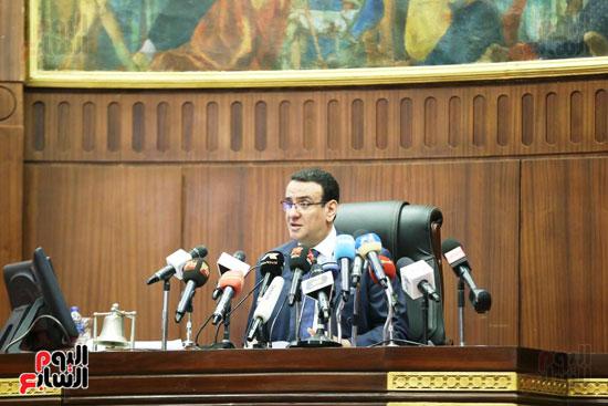 الموتمر الصحفي للمتحدث الرسمي لمجلس النواب لعرض انجازات المجلس  (7)