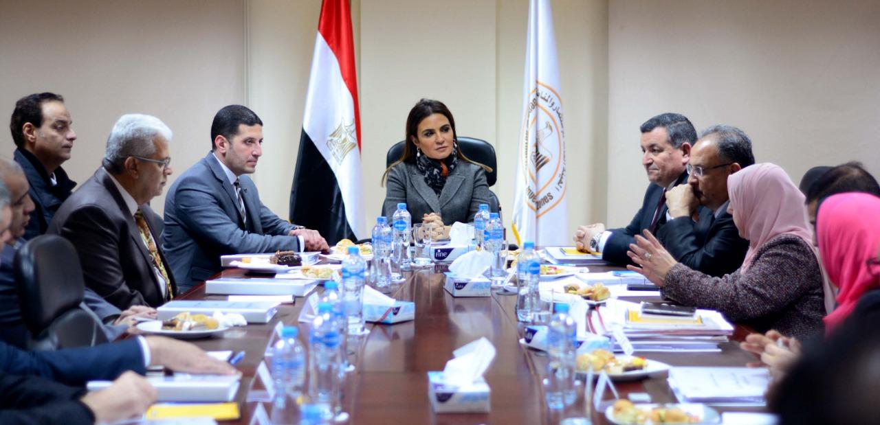وزيرة الاستثمار سحر نصر تستمع لمجلس إدارة المنطقة الإعلامية الحرة