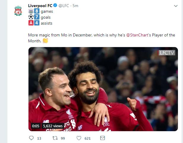 تويتة ليفربول