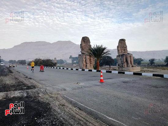 ماراثون مصر الدولى من أمام معبد حتشبسوت بالأقصر (2)