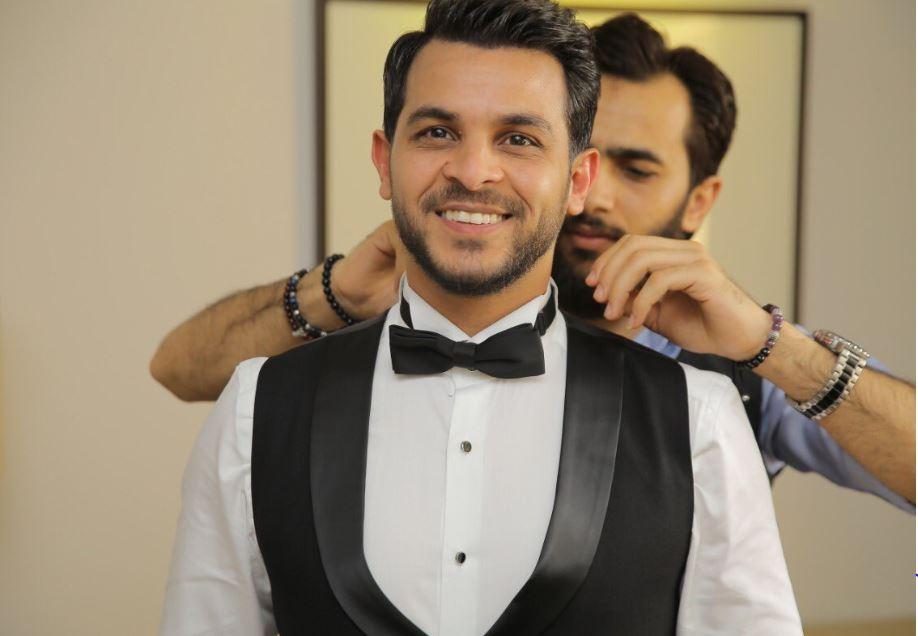 محمد رشاد خلال حفل زفافه