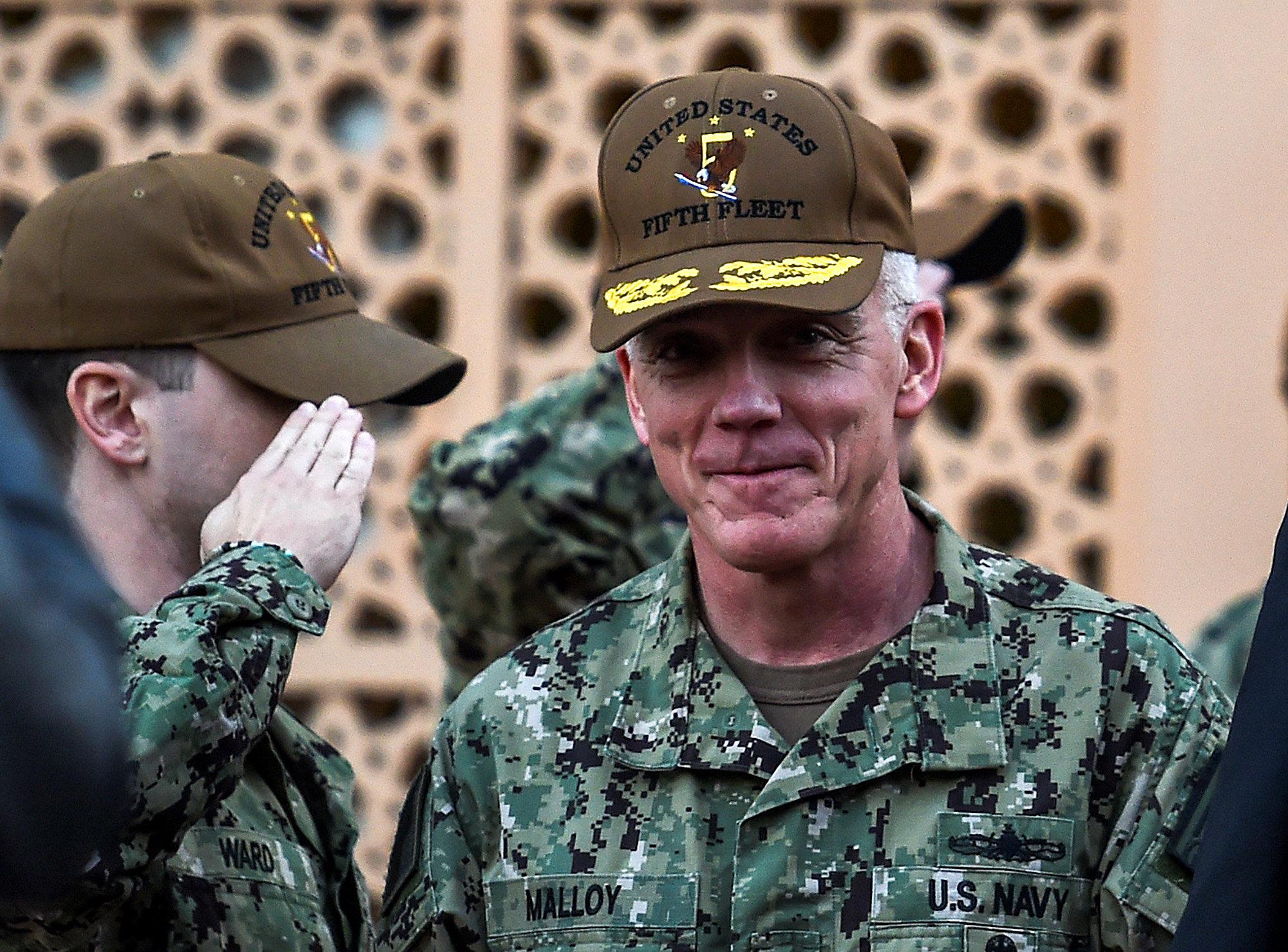 أحد القيادات الأمريكية فى القاعدة العسكرية الامريكية بالحرين