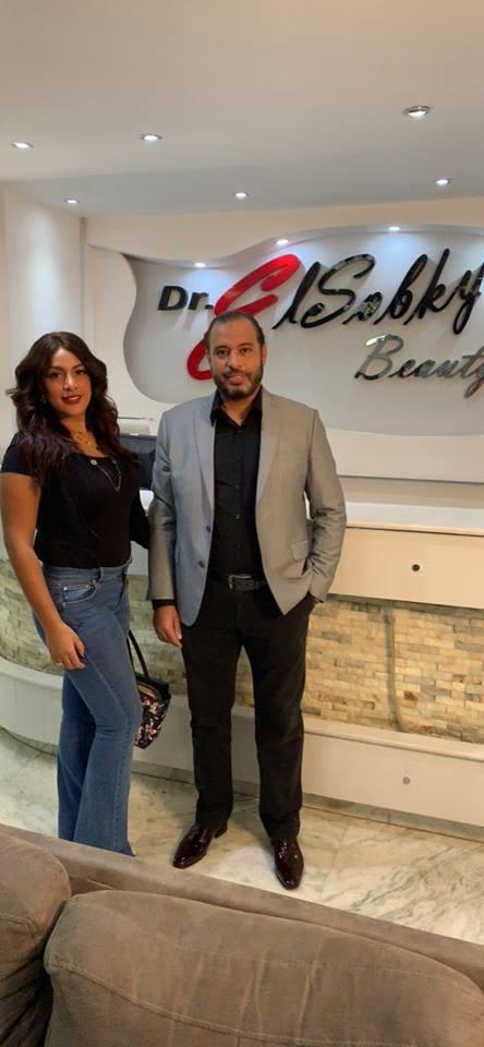 الفنانة نيرمين ماهر مع الدكتور أحمد السبكى