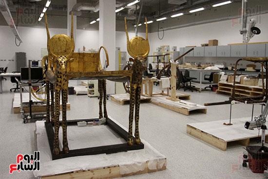 جولة لجنة الثقافة والإعلام والآثار بالبرلمان للمتحف المصري الكبير (36)