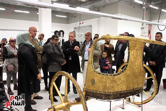 جولة لجنة الثقافة والإعلام والآثار بالبرلمان للمتحف المصري الكبير (42)