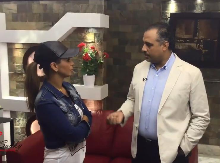الفنانة مى سليم مع الدكتور أحمد السبكى