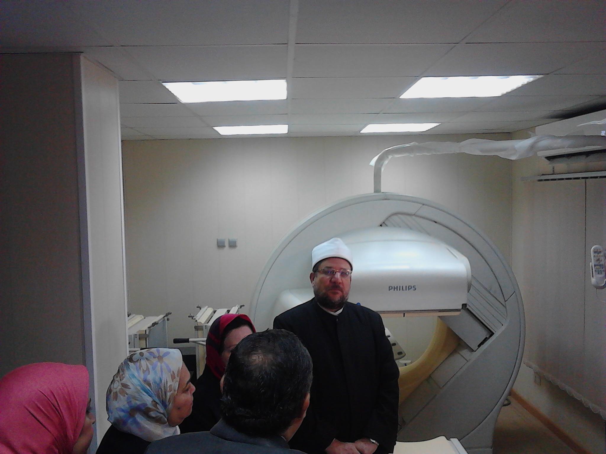 الدكتور محمد مختار جمعة وزير الاوقاف، وحدة الجاما كاميرا للمسح الذرى بمستشفى الدعاة (2)