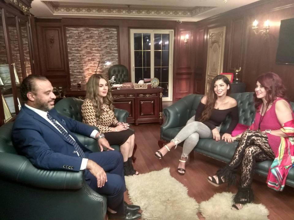 الفنانة مادلين طبر خلال حديثها مع الدكتور أحمد السبكى