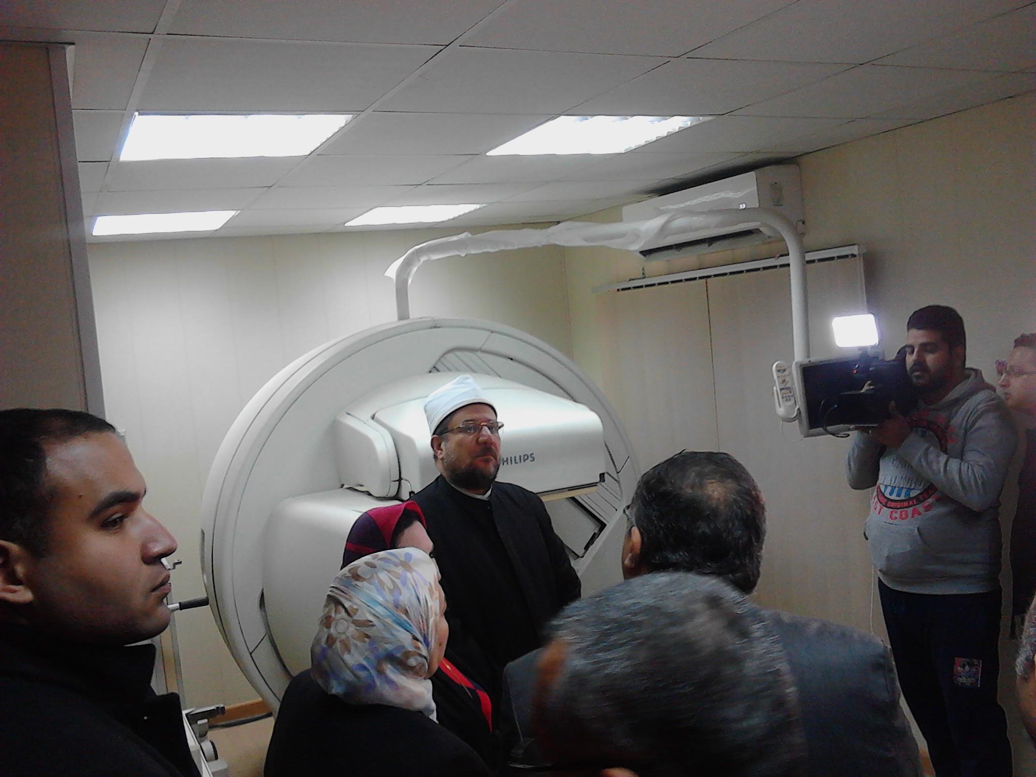 الدكتور محمد مختار جمعة وزير الاوقاف، وحدة الجاما كاميرا للمسح الذرى بمستشفى الدعاة (1)