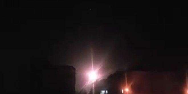 جانب من القصف السورى على دمشق