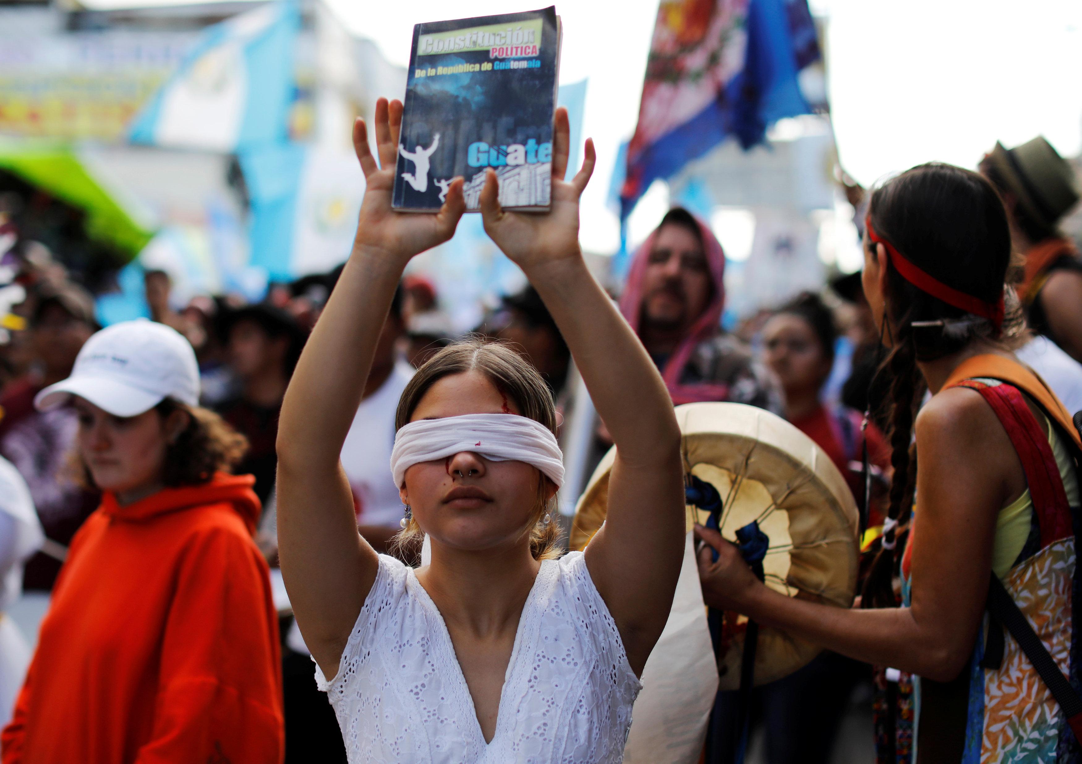 احتجاجات حاشدة فى جواتيمالا ضد الفساد (3)