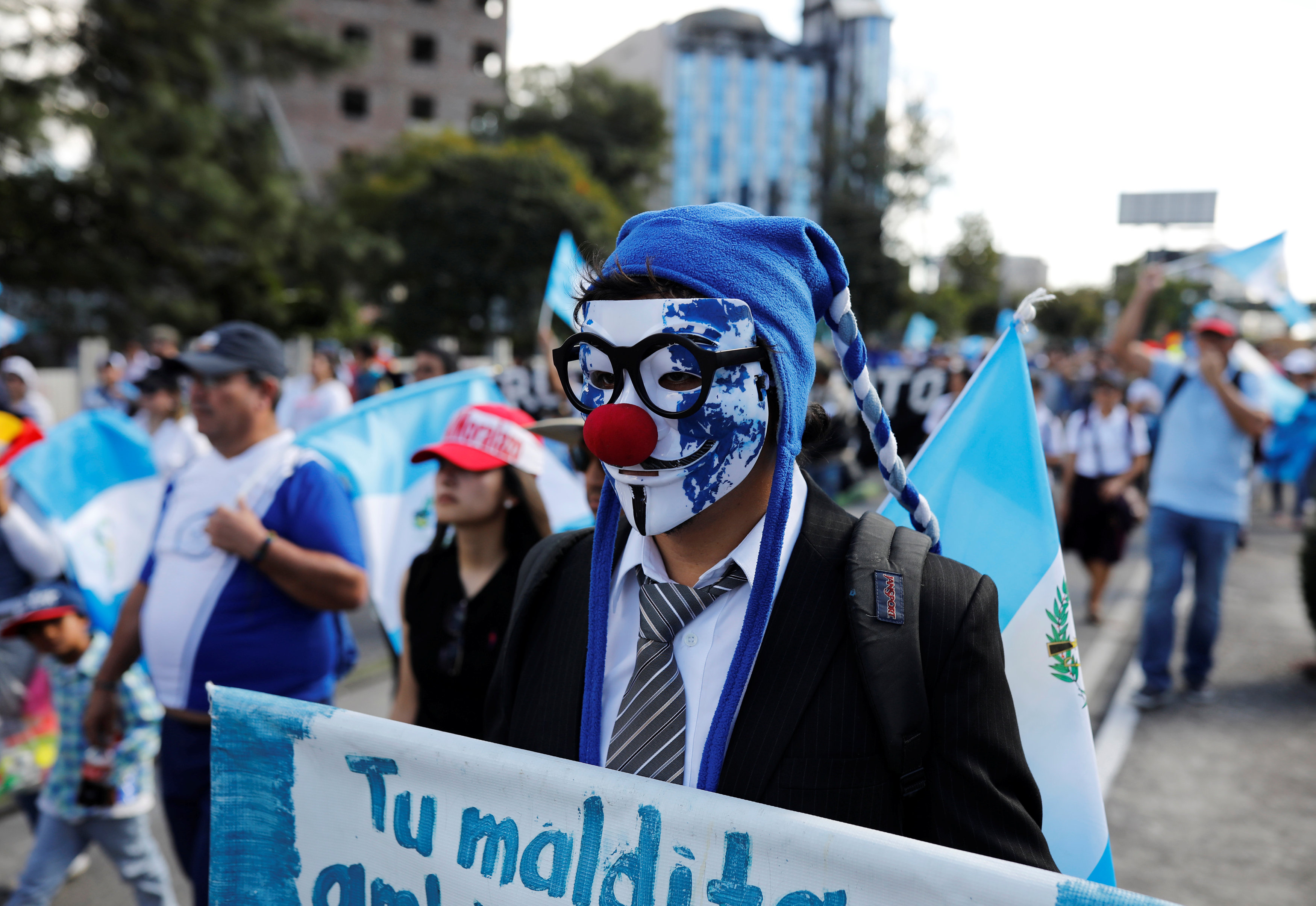 احتجاجات حاشدة فى جواتيمالا ضد الفساد (2)
