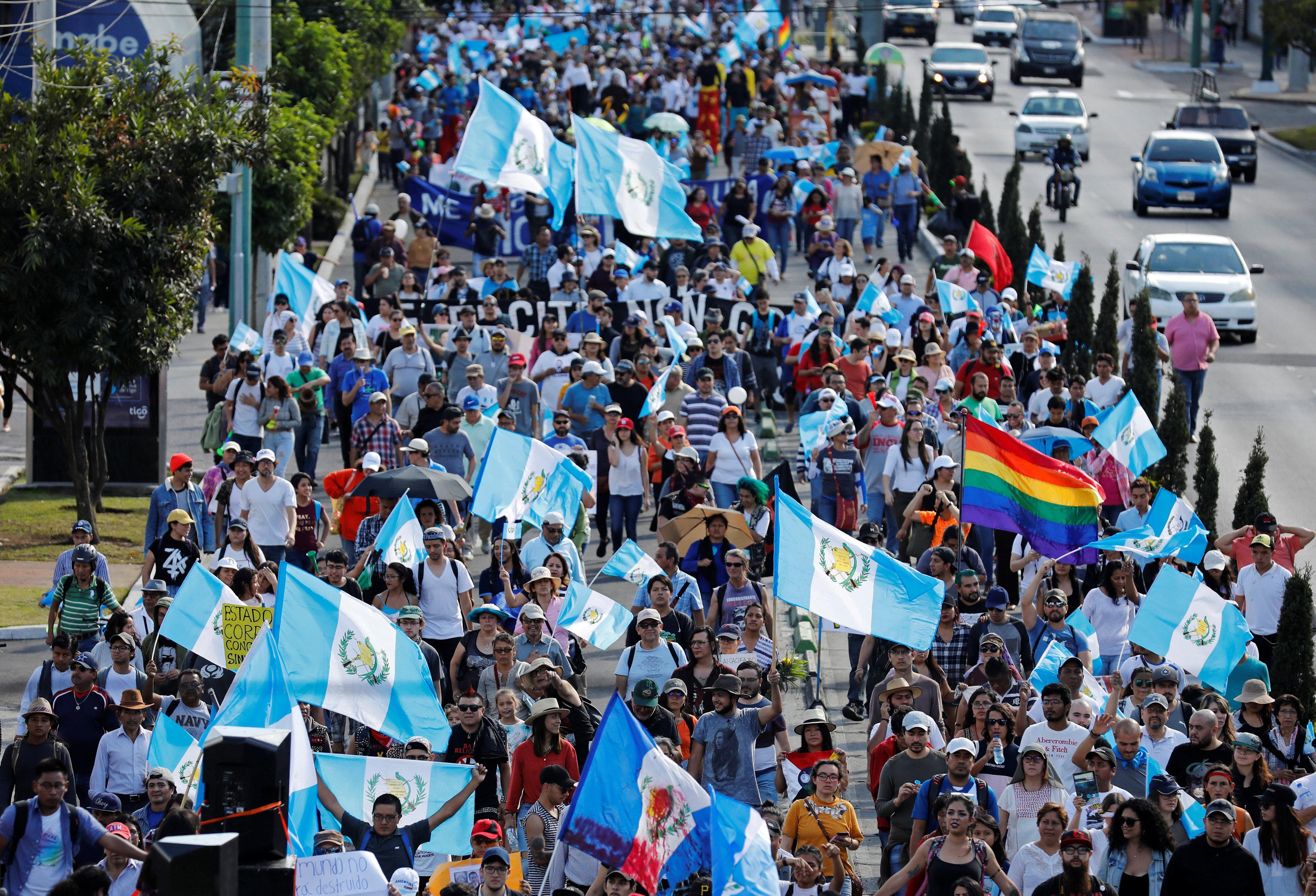 احتجاجات حاشدة فى جواتيمالا ضد الفساد (1)