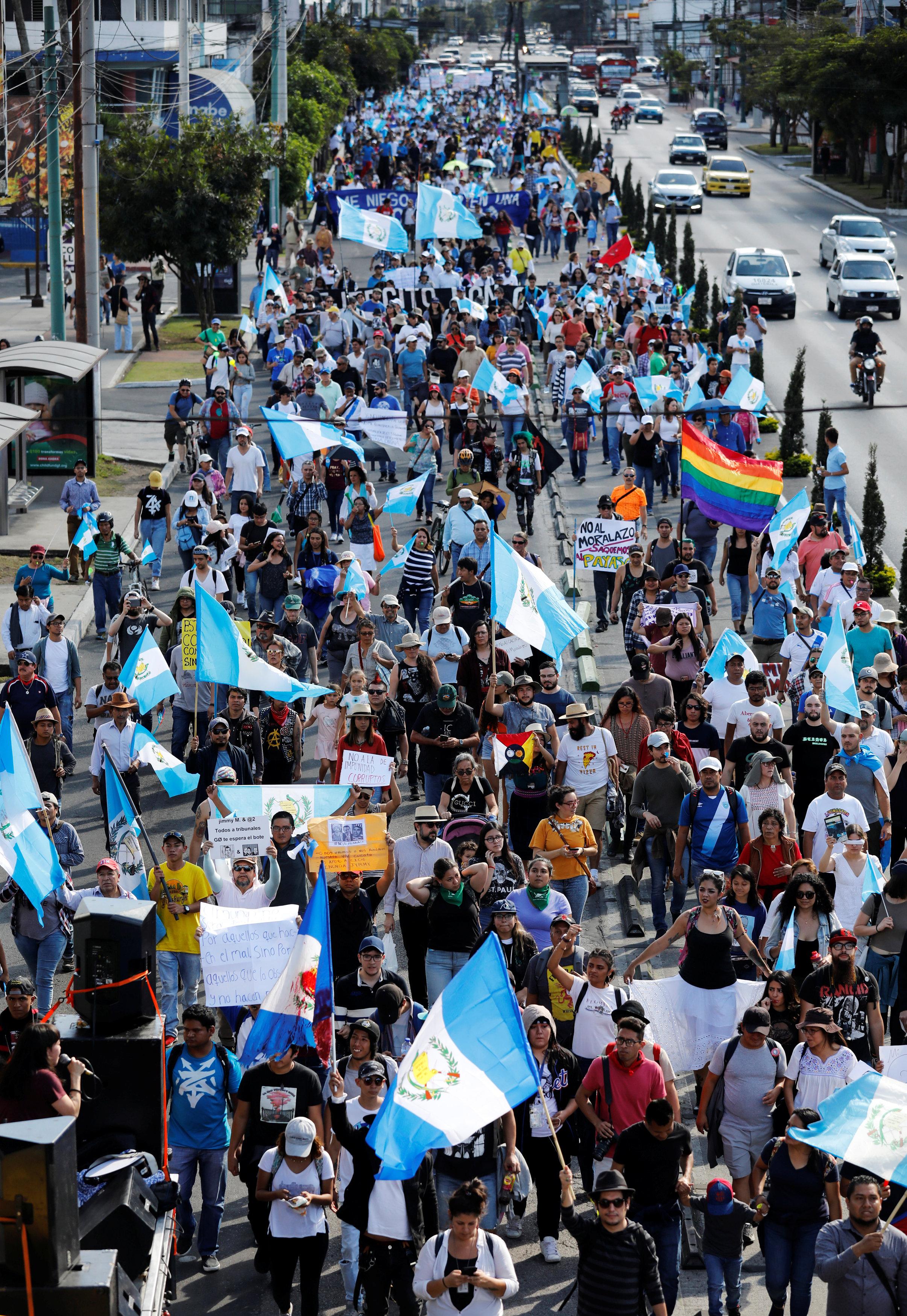 احتجاجات حاشدة فى جواتيمالا ضد الفساد (4)