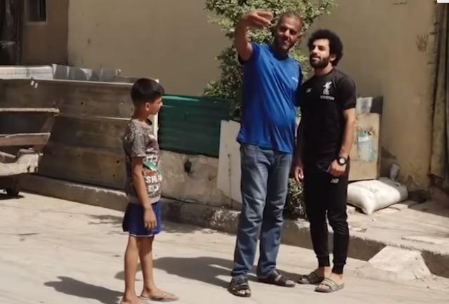 الشاب العراقى شبيه محمد صلاح