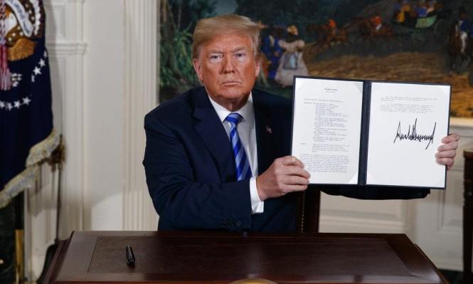 الرئيس الأمريكى انسحب من الاتفاق النووى الإيرانى فى مايو الماضى