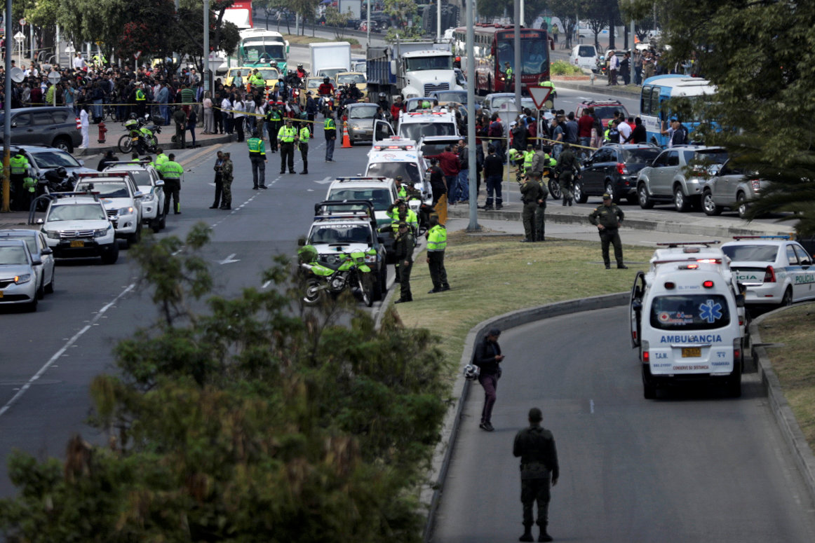 انتشار امنى مكثف فى العاصمة الكولومبية