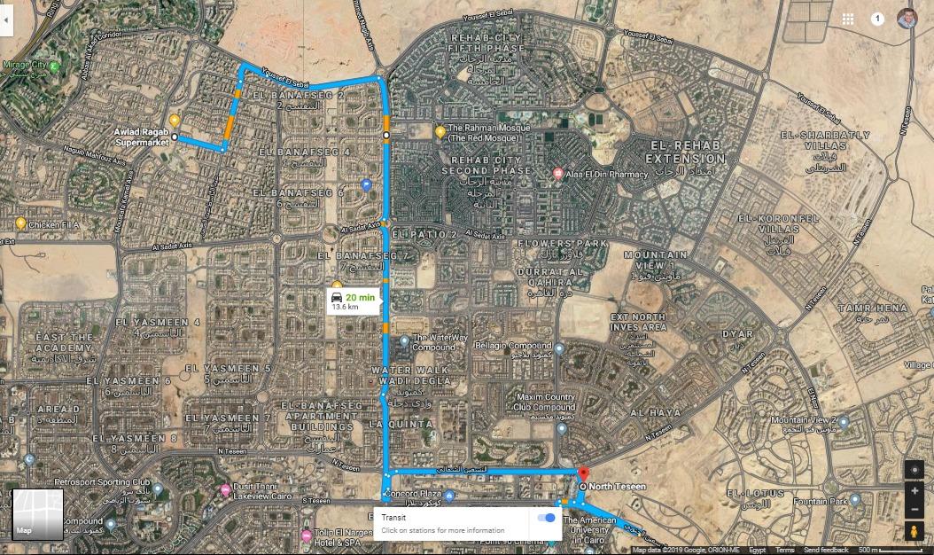 بدء التشغيل التجريبى لمنظومة النقل الداخلي بمدينة القاهرة الجديدة (3)